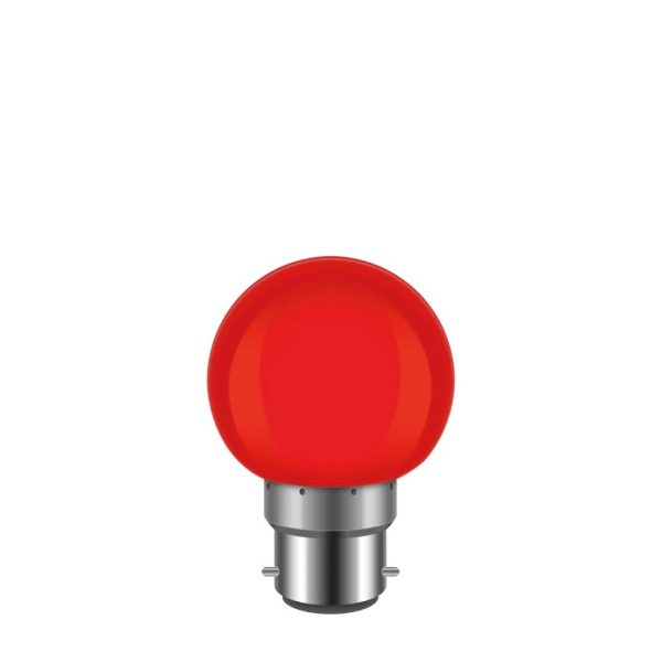 LED 燈膽 紅球膽 1W